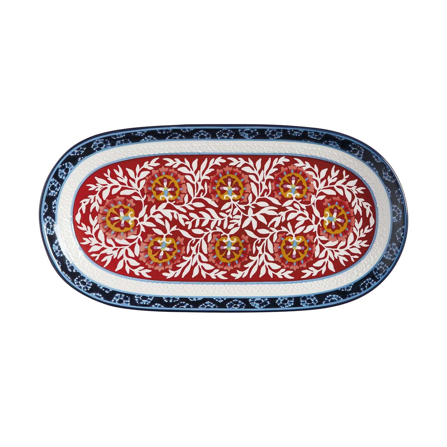 Maxwell Williams Boho Oblong Platter 33x17cm Multi Leek