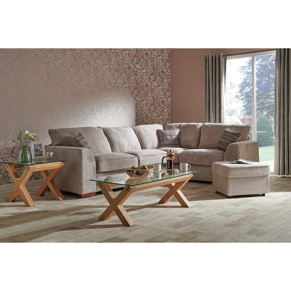 Casa Alpha Corner Fabric Sofa