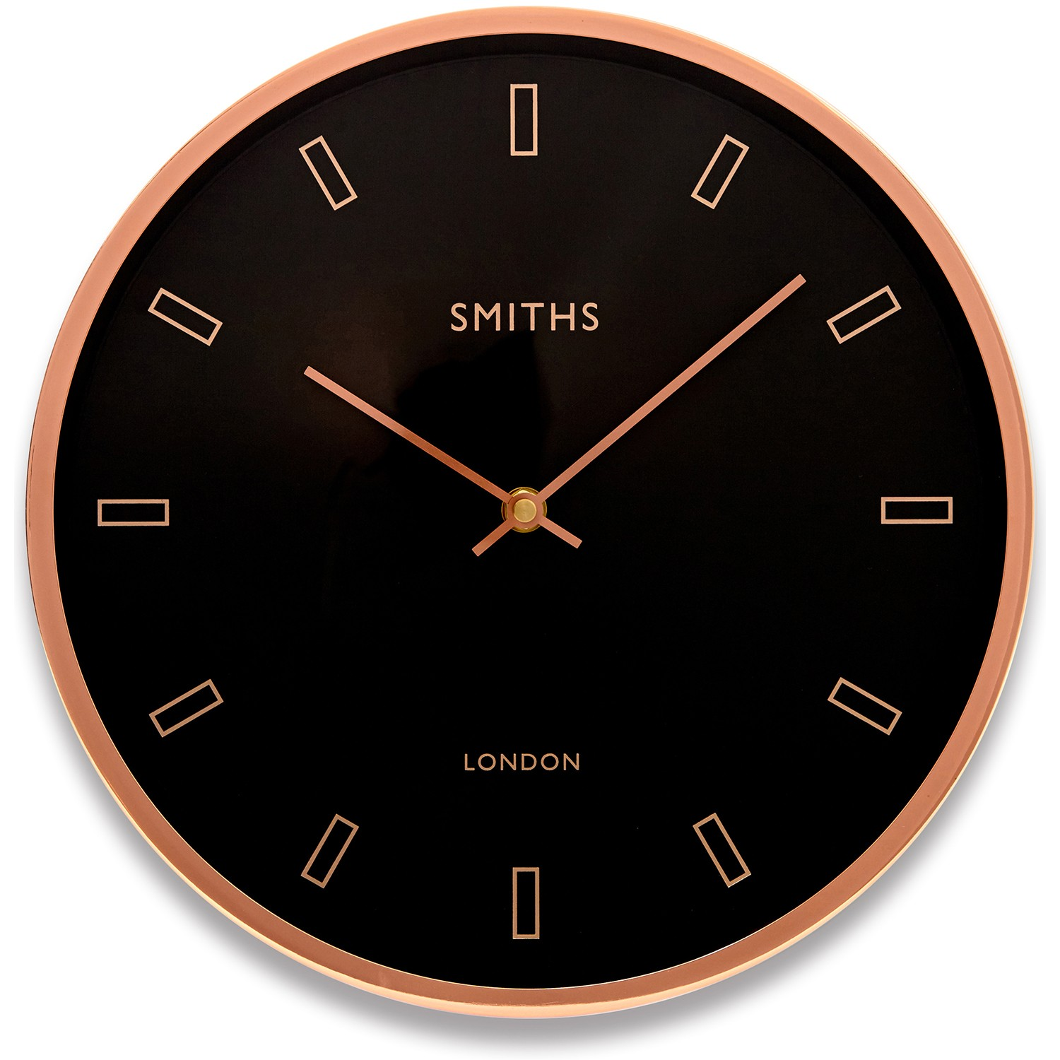 Brookpace Lascelles Case Wall Clock Black Amp Rose Gold Lee