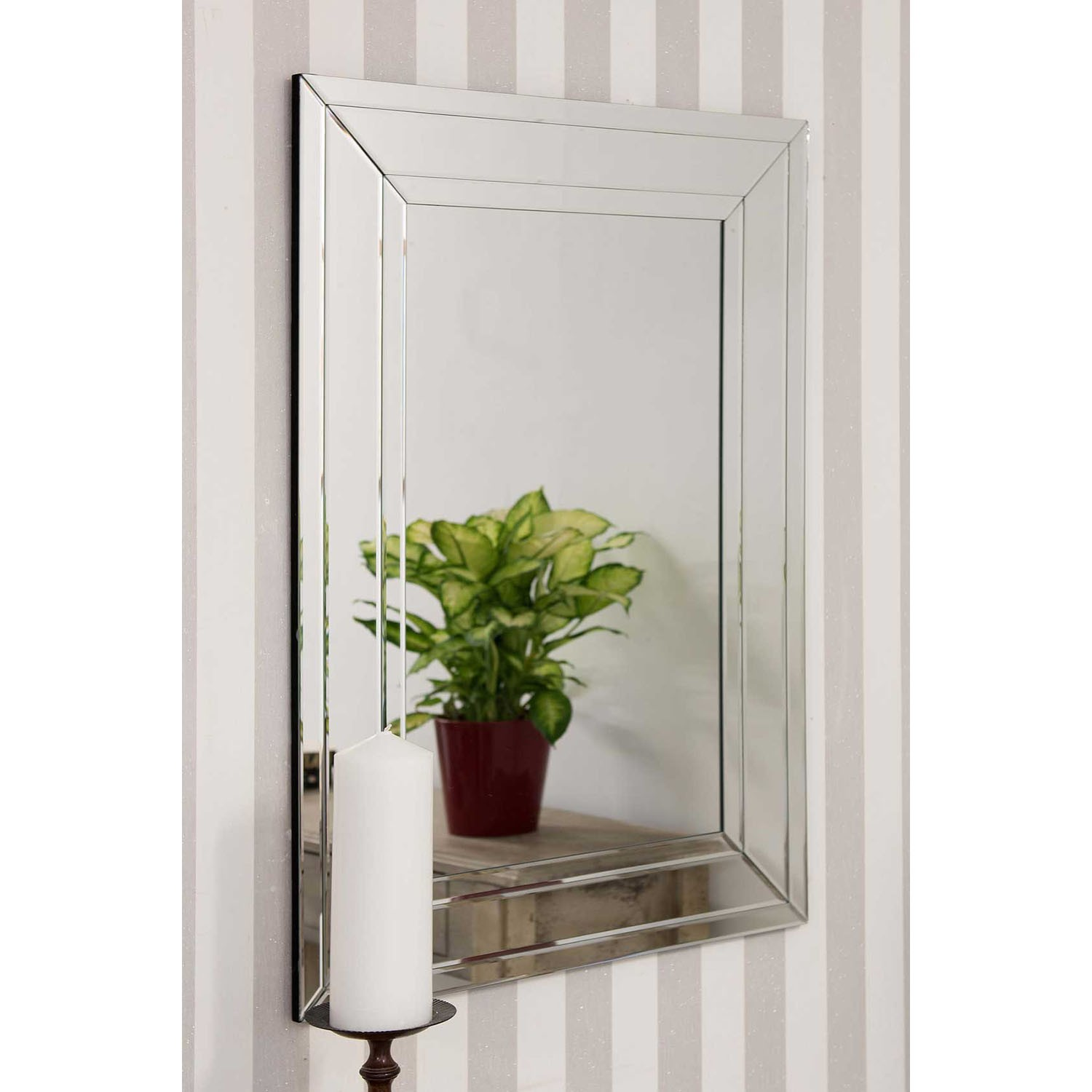 Mirror Outlet Langley Frameless Mirror | Leekes