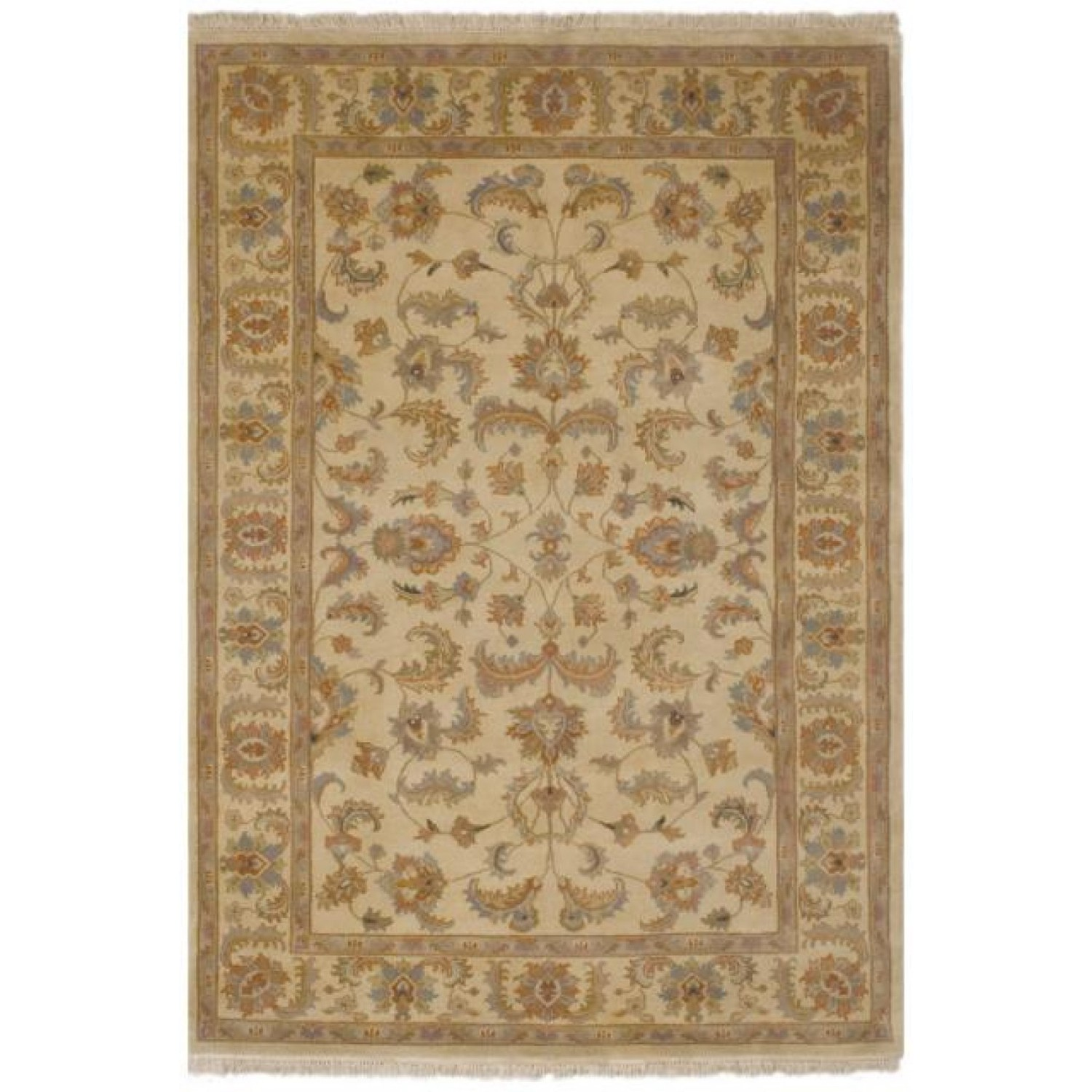 Frith Rugs Ipz075 Knotted Indo Persian Shervan Design Rug 1