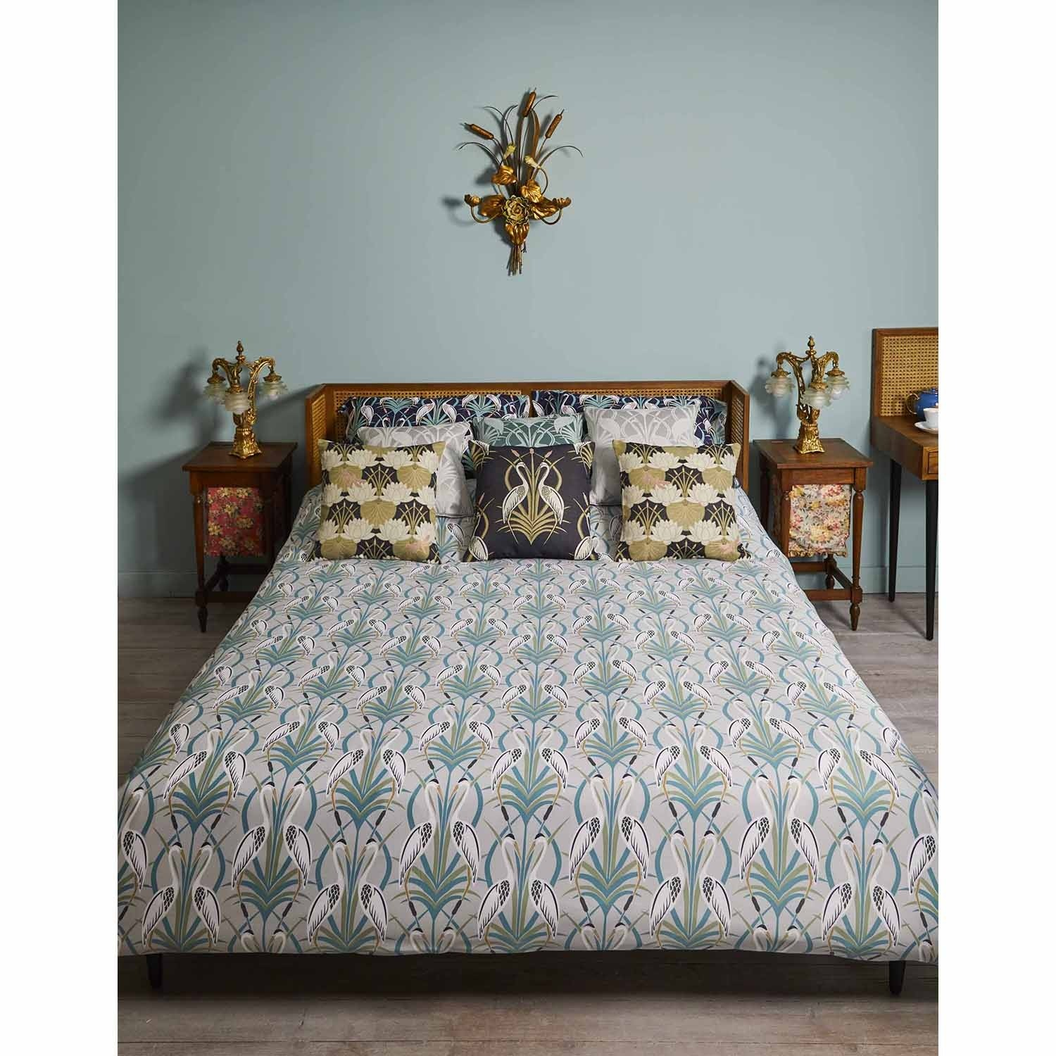 The Chateau By Angel Strawbridge Deco Heron Duvet Set Doub