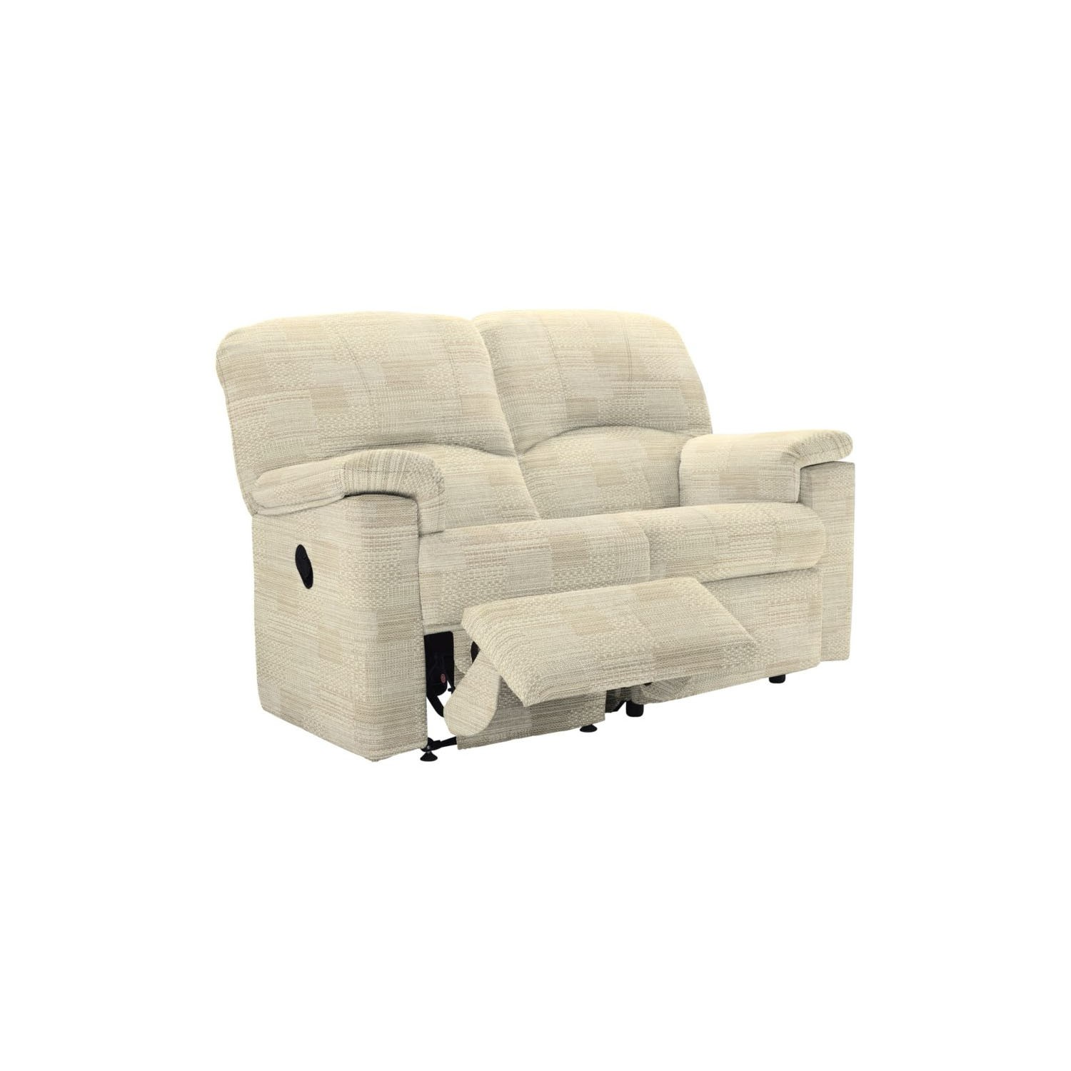 G Plan Chloe 2 Seater Double Manual Recliner Fabric Sofa L