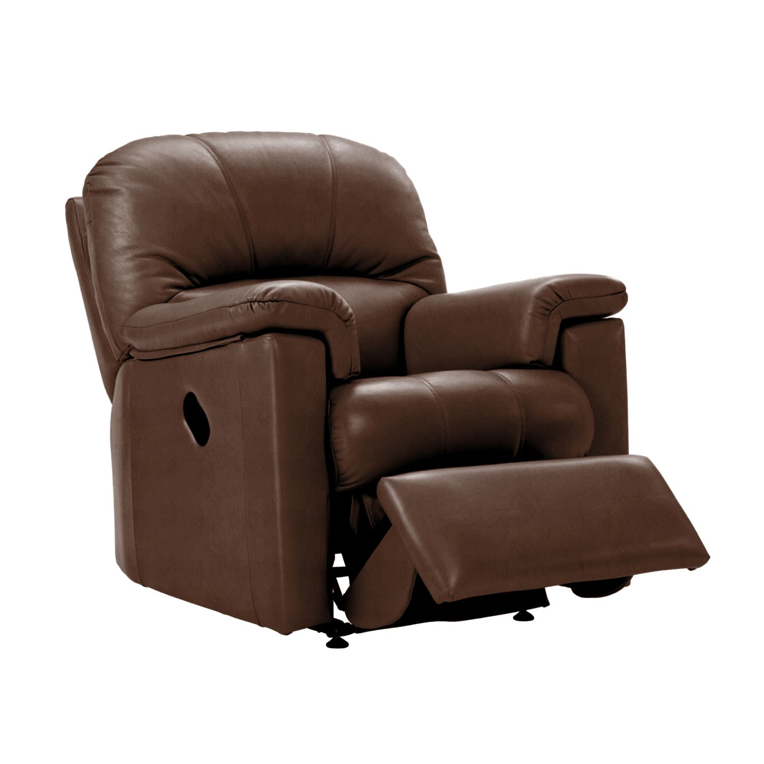 G Plan Chloe Power Recliner Leather Armchair, Small | Leekes