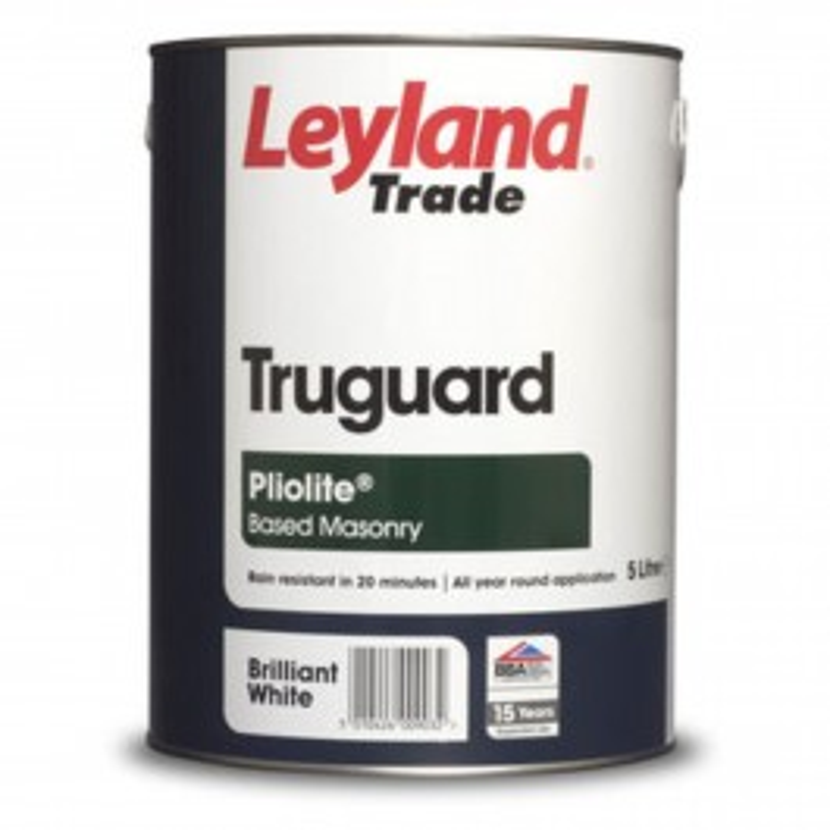 Leyland 5l Truguard Pliolite Masonry Paint Brilliant White