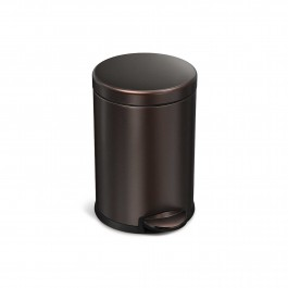 White Simplehuman Bronze Black or Stainless Steel Round Pedal Bin 3L or 4.5L