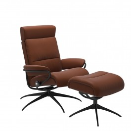 Stressless Tokyo Leather Armchair And Footstool Paloma Cop