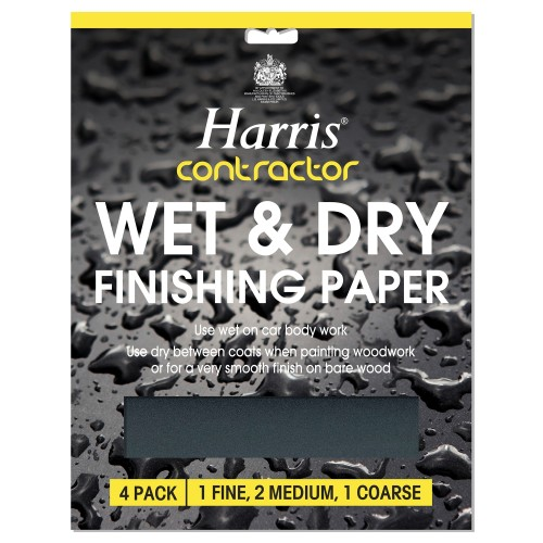 Harris Wet and Dry Finishing Paper Pack of 4