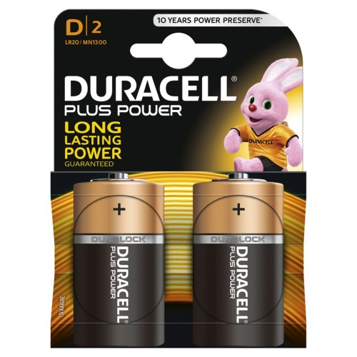 Duracell Plus Power D 2 Pack