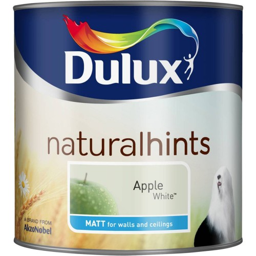 Dulux 2.5l Matt Standard Emulsion Paint, Apple White