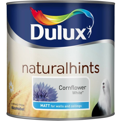 Dulux 2.5l Matt Standard Emulsion Paint, Cornflower white