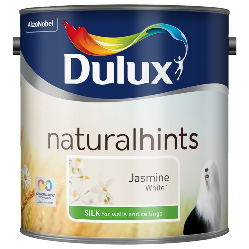 Dulux 2.5l Silk Emulsion, Jasmine White