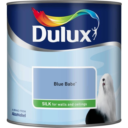 Dulux 2.5l Silk Emulsion, Blue Babe