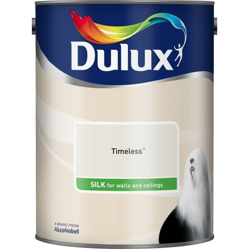 Dulux 2.5l Silk Standard Emulsion Paint, Timeless