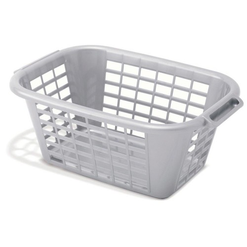 Addis Laundry Basket Rectangular Metallic