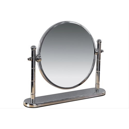 Miller Freestanding Swivel Mirror, Chrome Finish