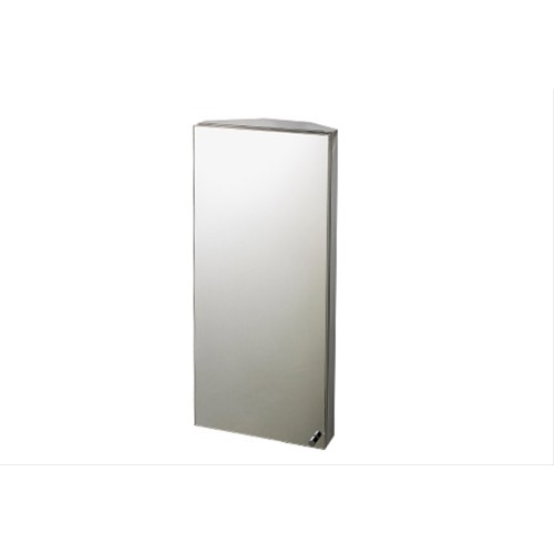 Stainless Steel Mirrored Door Corner Cabinet 30x67cm