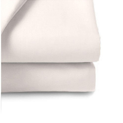 Casa White 200 Count Poly Cotton Flat Sheet Single
