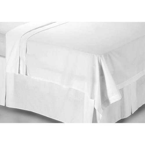 Casa White 200 Count Poly Cotton Flat Sheet Double