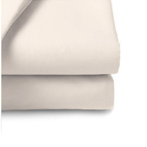 Casa Ivory 200 Count Poly Cotton Flat Sheet Double