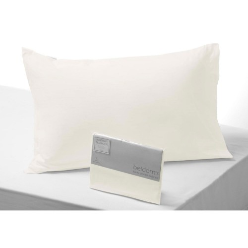 Casa Ivory 200 Count Poly Cotton Plain Hem Pillowcase