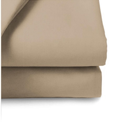 Belledorm 200 Thread Count Fitted Sheet, 6ft, Walnut.
