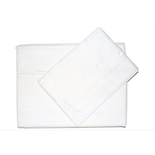 Casa White 400 Count Egyptian Cotton Flat Sheet Double