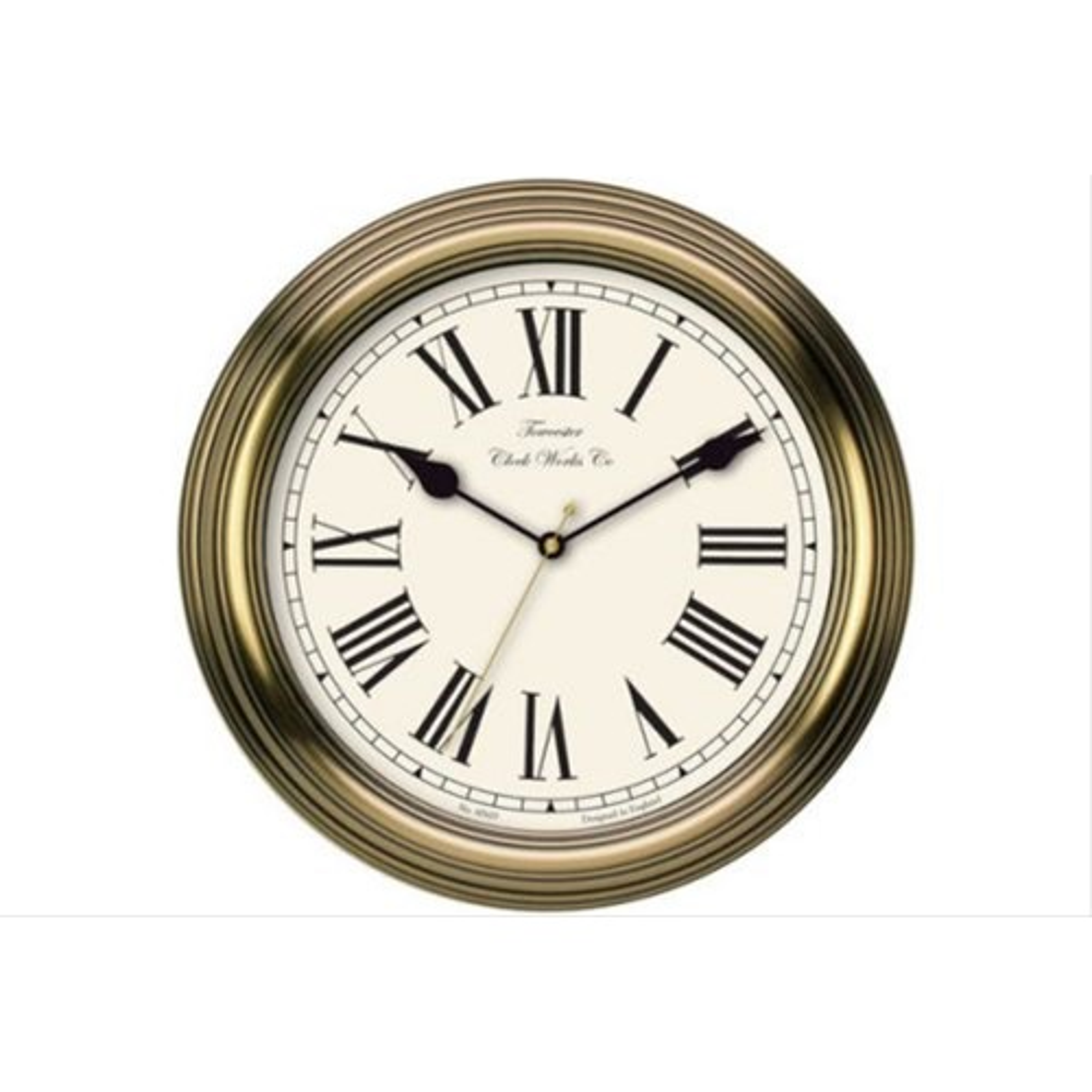 Acctim Redbourne Wall Clock, Gold