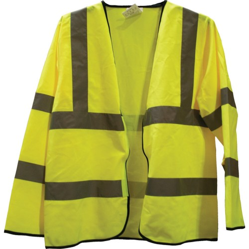 Worksafe Large Hi Vis Long Sleeved Waistcoat