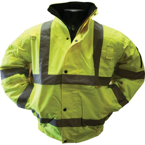 Worksafe Large Hi Vis Executive Bomber Jacket