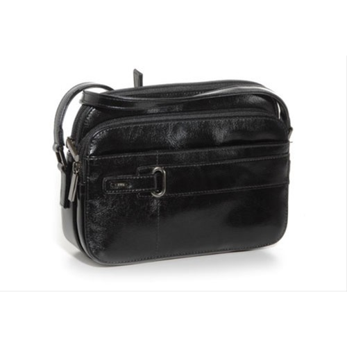 Jane Shilton Finsbury Small Multi Compartment Shoulder Bag Black