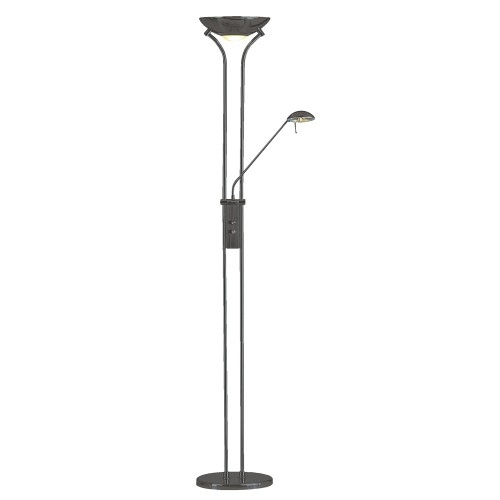 Searchlight 4329BC Mother and Child Floor Lamp, Chrome and Black