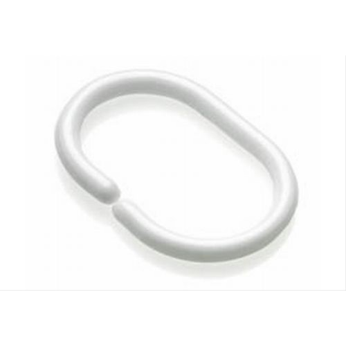 Croydex C Shaped Shower Curtain Ring White