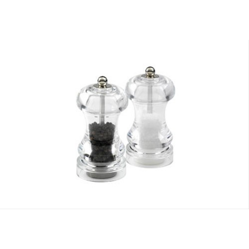 William Levene 145mm Pepper Mill Clear Black