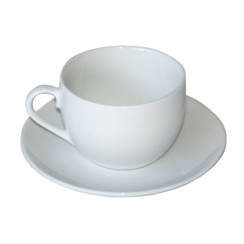Casa White Coup Cup & Saucer