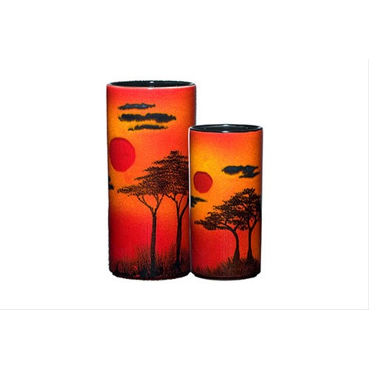 Poole Pottery African Sky Pillar Vase 17cm