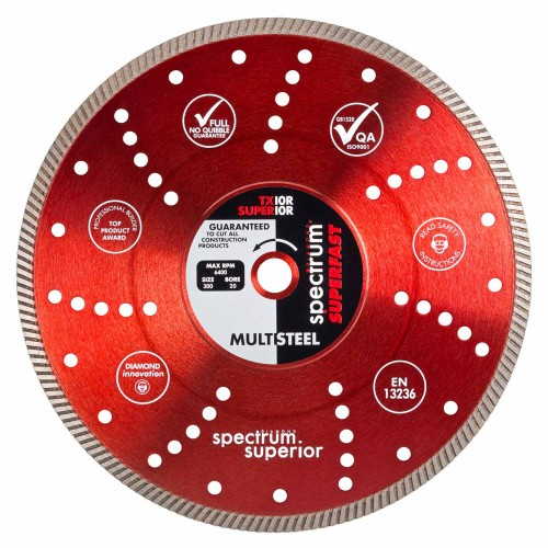 Spectrum Superior Multi-Steel Turbo Diamond Blade