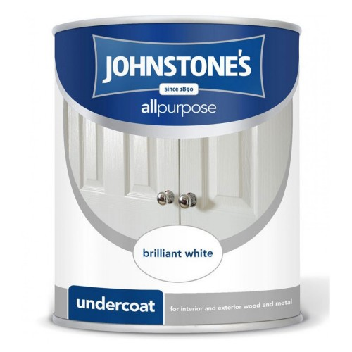 Johnstones 750ml All PurposeUndercoat Pure Brilliant White