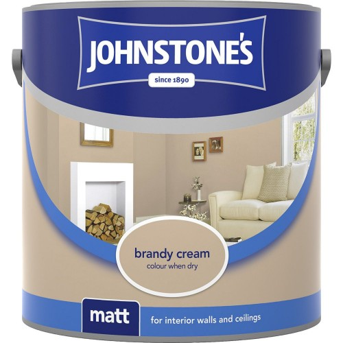 Johnstones 2.5l Matt Emulsion, Brandy Cream