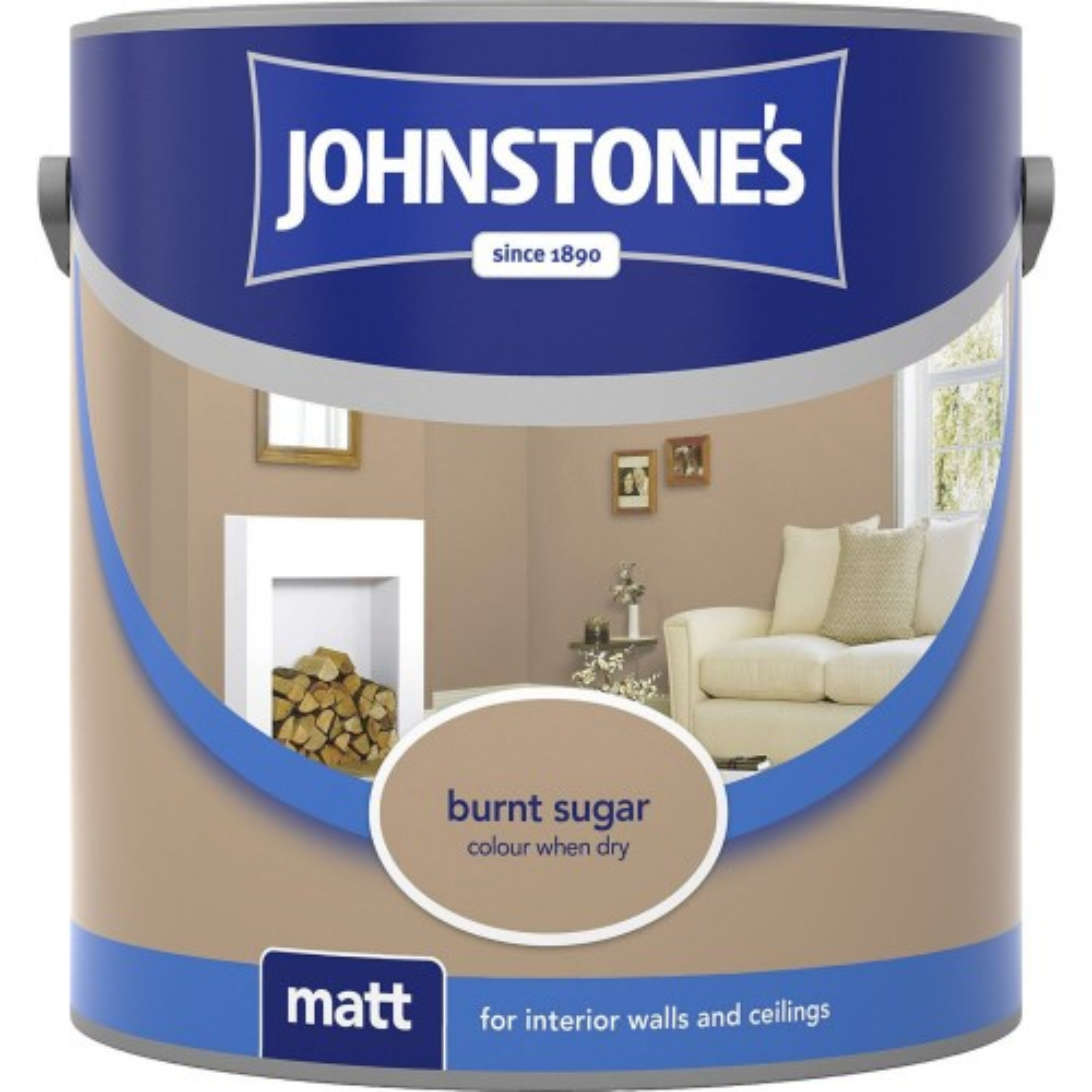 Johnstone 2.5l Matt Emulsion, Burnt Sugar