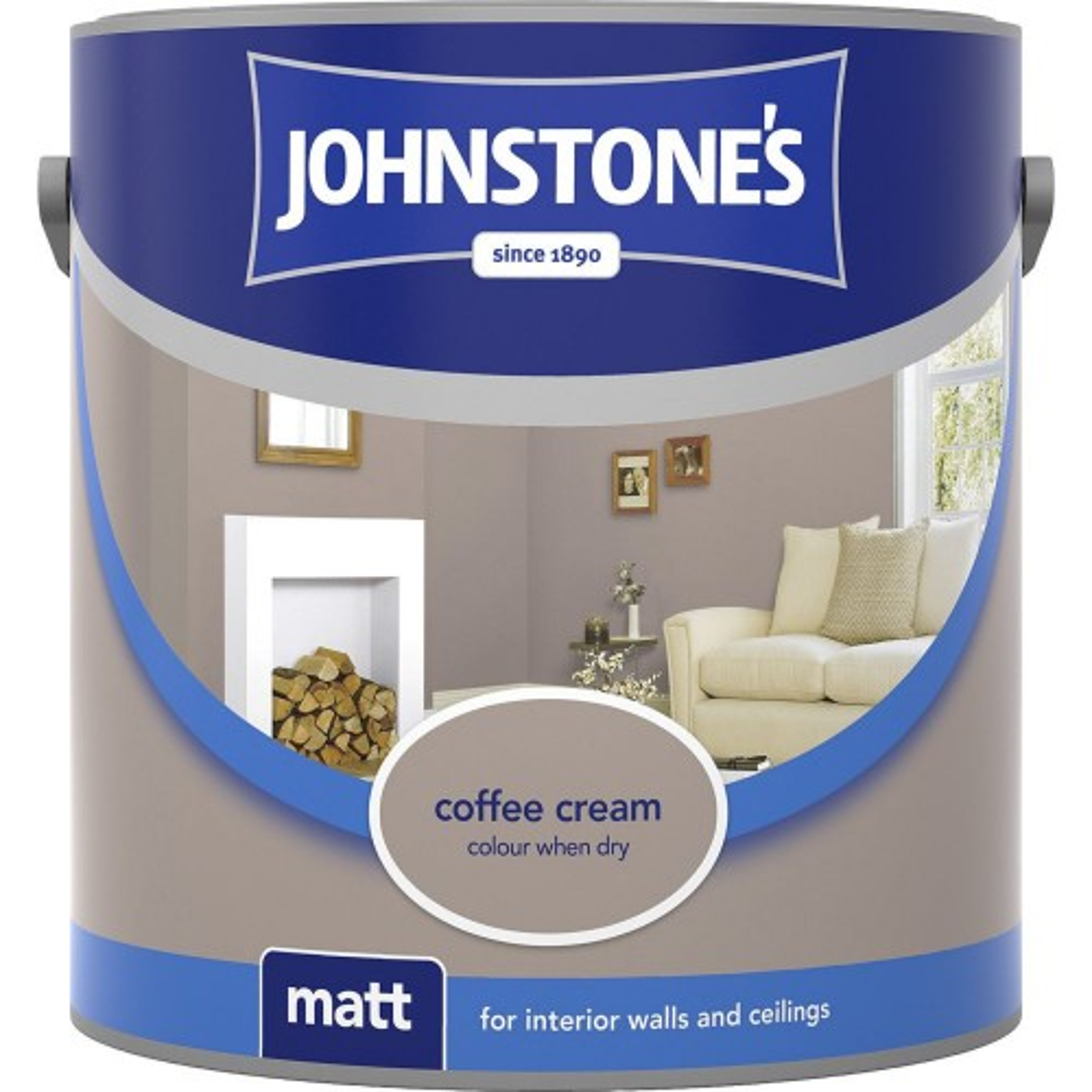Johnstones 2.5l Matt Emulsion, Coffee Cream