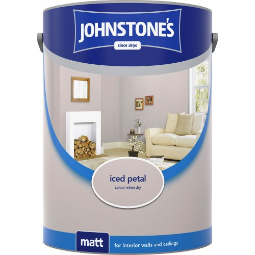 Johnstone 2.5l Matt Emulsion, Iced Petal