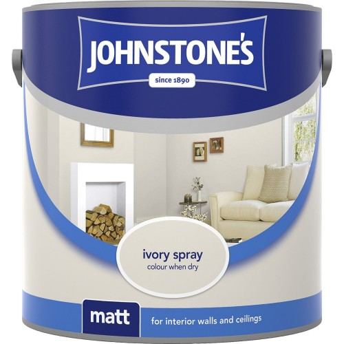 Johnstone 2.5l Matt Emulsion, Ivory Spray