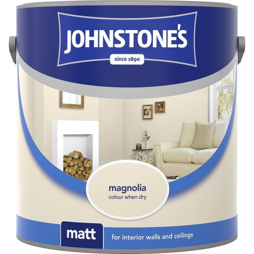 Johnstones 2.5l Matt Emulsion, Magnolia