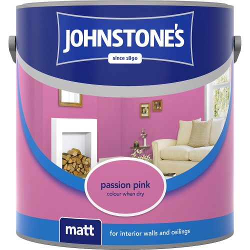 Johnstones 2.5l Matt Emulsion, Passion Pink