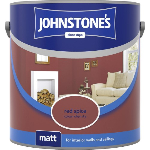 Johnstones 2.5l Matt Emulsion, Red Spice