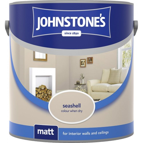 Johnstones 2.5l Matt Emulsion, Seashell
