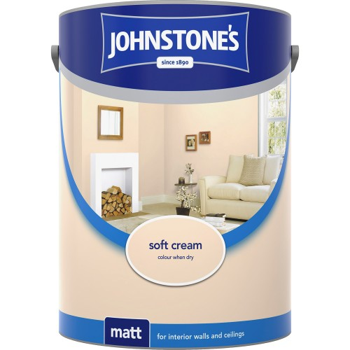 Johnstones 2.5l Matt Emulsion, Soft Cream