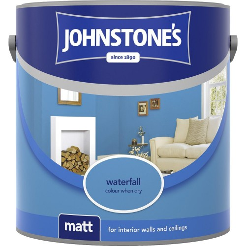 Johnstone 2.5l Matt Emulsion, Waterfall
