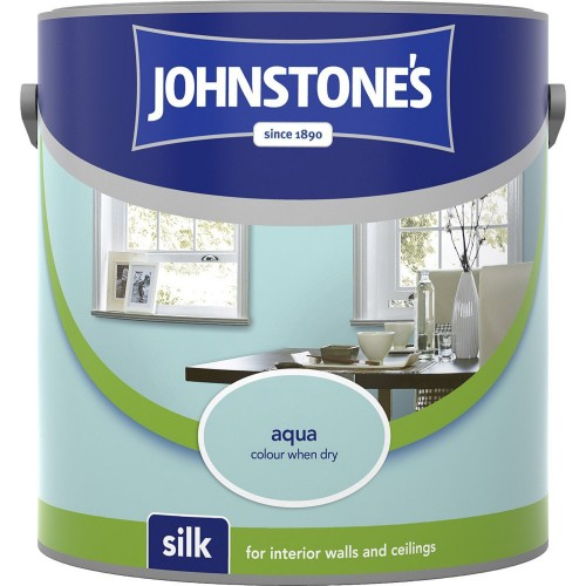 Johnstone 2.5l Silk Emulsion, Aqua